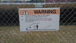 Dragway Warning Sign